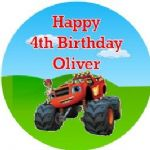 Personalised Edible Blaze & the Monster Machines Cake Topper